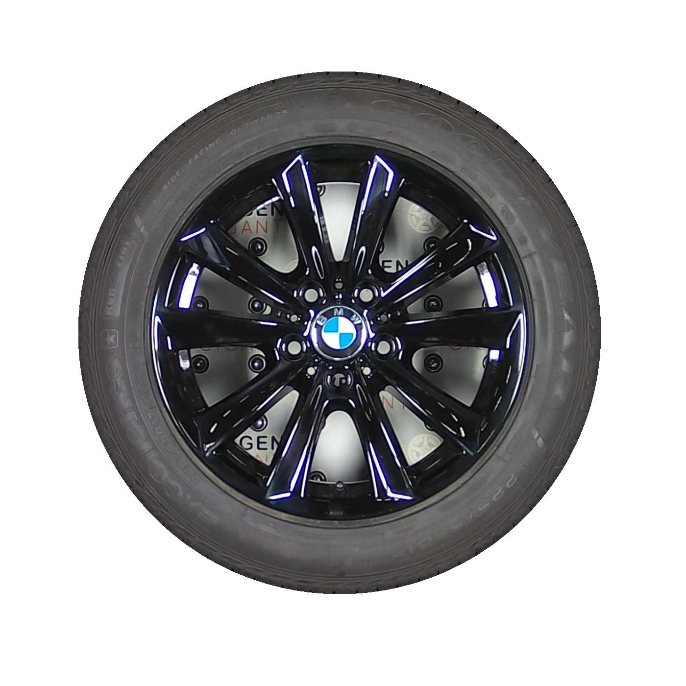 Bmw 5 Serie Styling 236 Velgen 17 Inch Zwart Als Nieuw Met Bridgestone En Goodyear Rof Zomerbanden